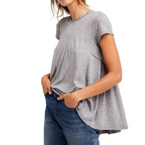 Free people | We The free It's Yours Gray Tee SZ L